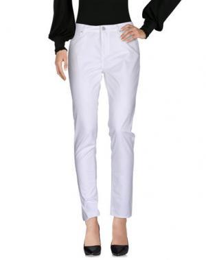 Повседневные брюки LEROCK. Цвет: белый