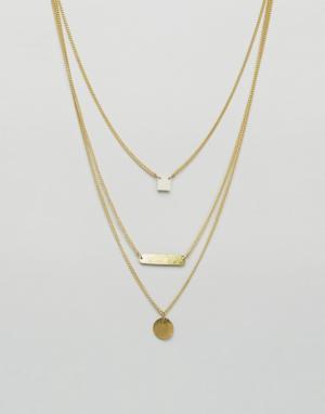 Made Многоярусное ожерелье Dainty. Цвет: золотой
