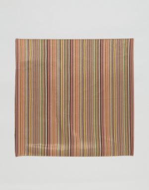 Paul Smith Классический платок для нагрудного кармана в полоску. Цвет: мульти