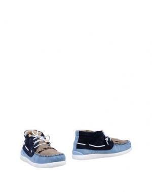 Полусапоги и высокие ботинки DOLFIE. Цвет: голубиный серый