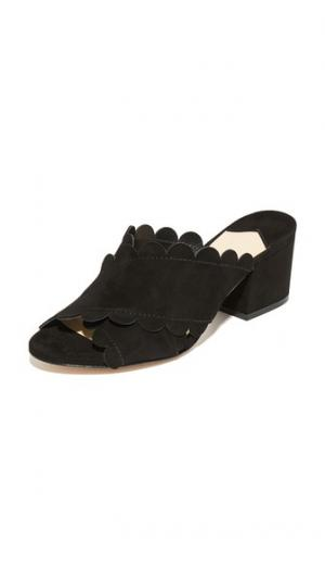 Туфли без задников Calista на квадратном каблуке Isa Tapia. Цвет: голубой