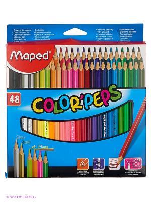 Набор карандашей Maped. Цвет: малиновый, красный, розовый