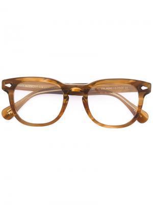 Очки Gelt Moscot. Цвет: коричневый