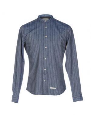 Джинсовая рубашка TINTORIA MATTEI 954. Цвет: темно-синий