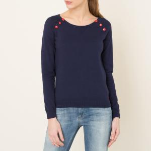 Пуловер в полоску морском стиле MAISON SCOTCH. Цвет: экрю/ темно-синий