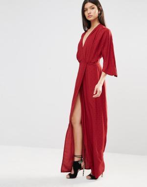 Bec & Bridge Платье макси Nightingale. Цвет: красный