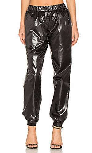 Легкие блестящие брюки Kenzo. Цвет: черный