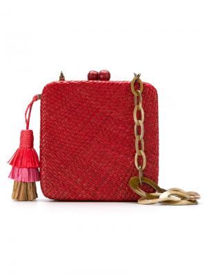 Straw clutch Serpui. Цвет: красный