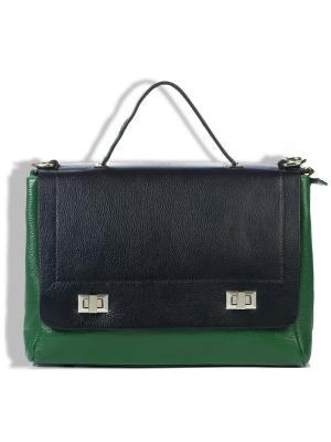 Сумка-портфель AnnA Wolf. Цвет: черный, зеленый