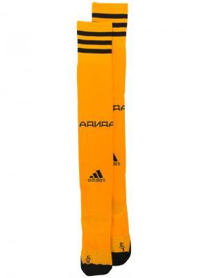 X Adidas football socks Gosha Rubchinskiy. Цвет: жёлтый и оранжевый