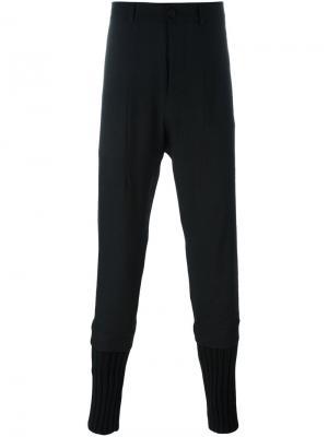 Зауженные брюки Isabel Benenato. Цвет: чёрный