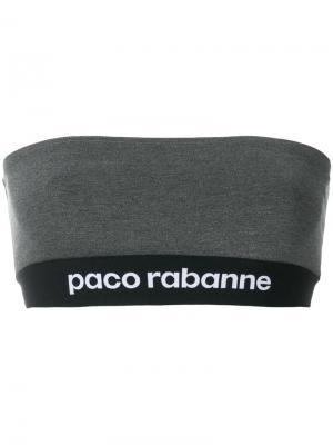 Топ-бандо с логотипом Paco Rabanne. Цвет: серый