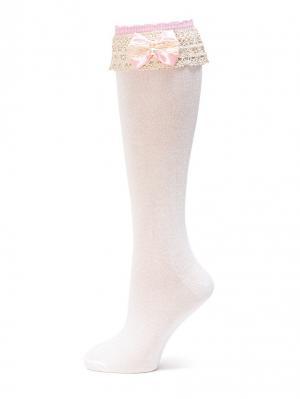 Гольфы LARMINI. Цвет: кремовый, розовый
