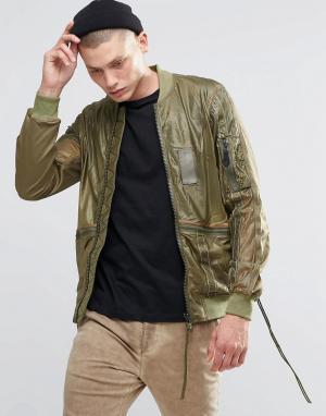 Maharishi Куртка Upcycled MA. Цвет: зеленый