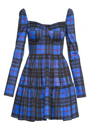 Платье из хлопка 176312 Paola Morena. Цвет: синий