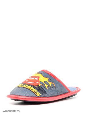 Туфли комнатные с верхом из текстильных  материалов детские. BRIS. Цвет: серый