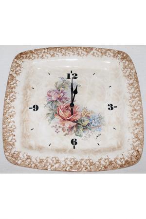 Настенные часы Элианто LCS. Цвет: бежевый, коричневый