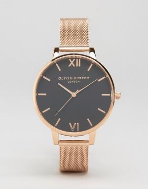Olivia Burton Золотисто-розовые часы с большим циферблатом OB16BD89. Цвет: золотой