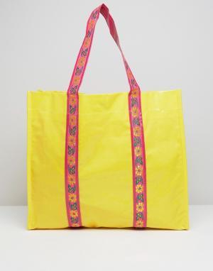 Bombay Duck Сумка-шоппер с отделкой лентами Sienna. Цвет: желтый