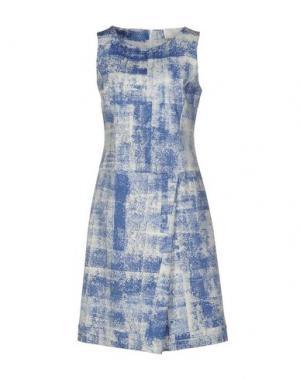 Платье до колена CIVIDINI. Цвет: лазурный