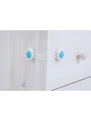 Приспособление для блокировки дверей шкафов от детей (2 шт), голубой BRADEX. Цвет: белый