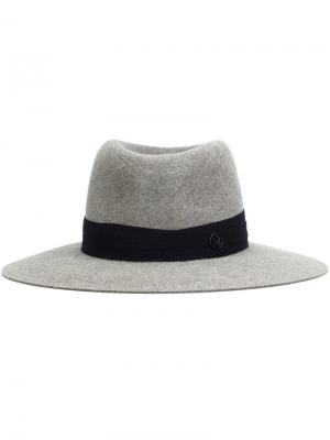 Шляпа трилби Maison Michel. Цвет: серый