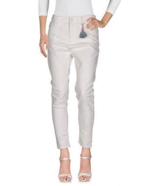 Джинсовые брюки ALYSI. Цвет: белый