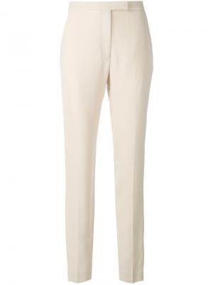 Классические брюки слим Elie Saab. Цвет: телесный