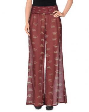 Повседневные брюки GRAZIA'LLIANI SOON. Цвет: красно-коричневый
