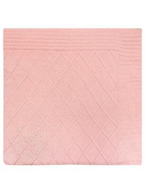 Плед вязаный Rose rhomb Apolena. Цвет: розовый