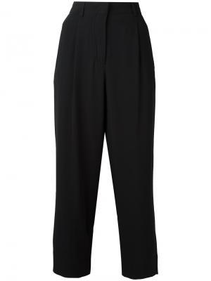 Расклешенные укороченные брюки Incotex. Цвет: чёрный