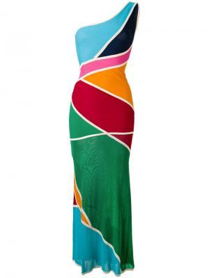 Длинное платье Hervé Léger. Цвет: многоцветный