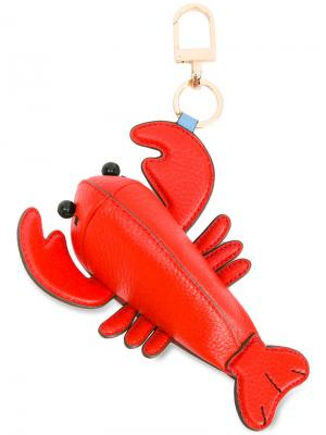 Lobster keyring Tory Burch. Цвет: красный