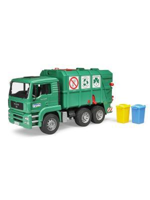 Мусоровоз MAN TGA (цвет зеленый) (подходит модуль со звуком и светом H) Bruder. Цвет: зеленый