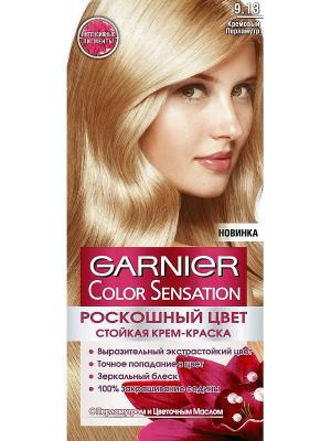 Стойкая крем-краска для волос Color Sensation, Роскошь цвета, оттенок 9.13, Кремовый перламутр Garnier. Цвет: кремовый
