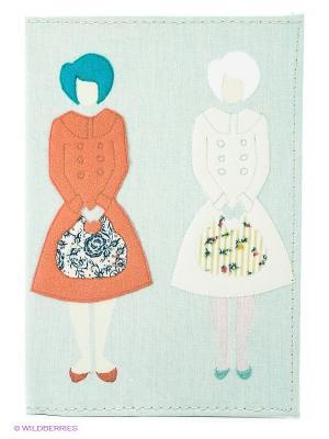 Обложка для автодокументов Дамы с сумочками Mitya Veselkov. Цвет: светло-голубой