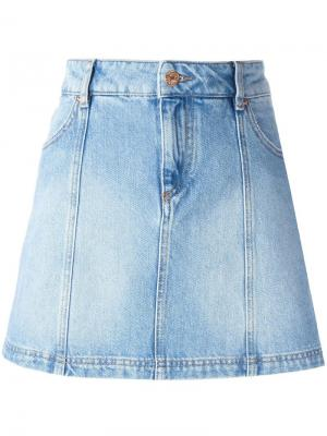 Джинсовая юбка мини Isabel Marant Étoile. Цвет: синий