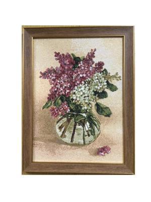 Гобеленовая картина БУКЕТ(сирень) 23х35 Рапира. Цвет: бежевый, розовый