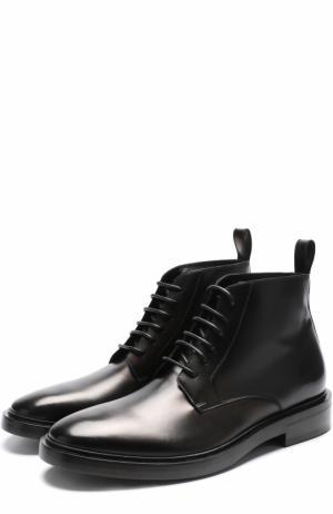 Высокие кожаные ботинки на шнуровке Balenciaga. Цвет: черный