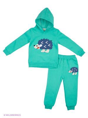 Комплект Kidly. Цвет: голубой, зеленый