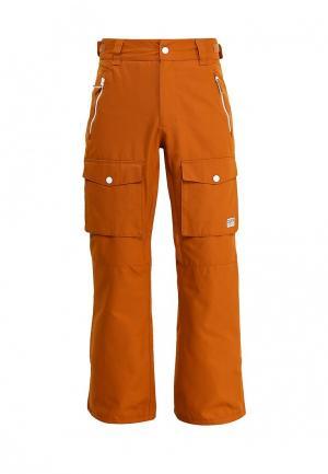 Брюки горнолыжные CLWR. Цвет: коричневый