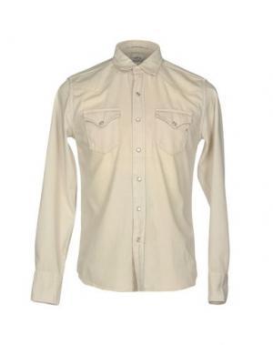 Джинсовая рубашка REPLAY. Цвет: слоновая кость