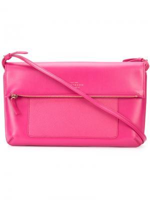 Сумка Panama Smythson. Цвет: розовый и фиолетовый
