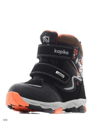 Ботинки Kapika. Цвет: черный, оранжевый