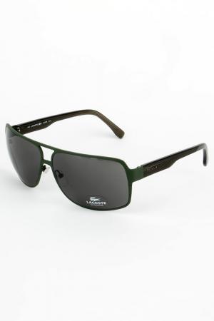 Очки солнцезащитные Lacoste. Цвет: зеленый