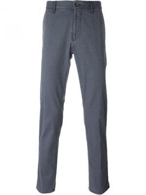 Жаккардовые брюки Incotex. Цвет: синий