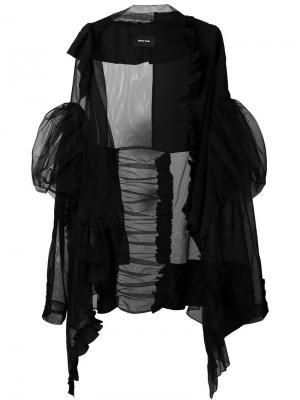 Куртка из тюля с оборками Simone Rocha. Цвет: чёрный