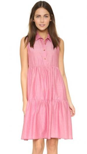 Платье Dora Otto d'ame. Цвет: красный