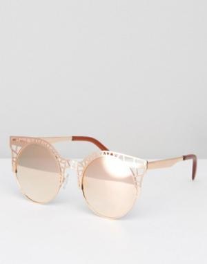 Quay Australia Солнцезащитные очки Fleur. Цвет: золотой