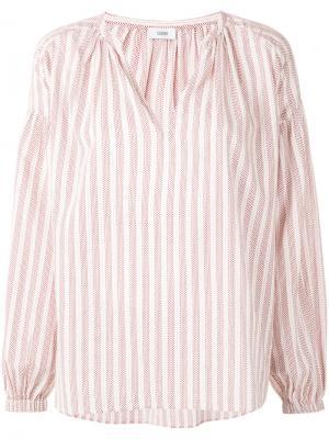 Блузка в полоску с V-образным вырезом Closed. Цвет: белый
